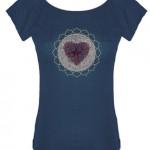 heart chakra Ladies bamboo scoop shirt